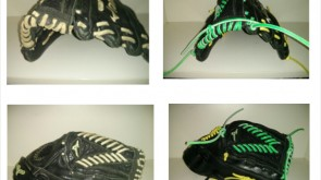 Mizuno rom white to green and yellow lace