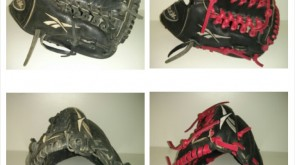 Reebok Glove from black to red lace