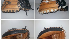 Wilson A2000 Catchers Mitt black and white lace