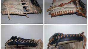 Catchers Mitt from white to tan lace