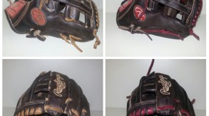 Rawlings from tan to burgundy lace