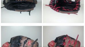 Rawlings Glove from black to red lace