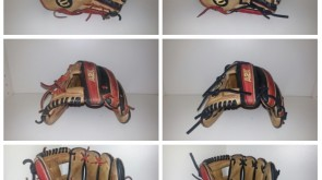 Wilson A2K re-laced with all black lace