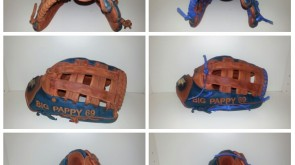 BIG PAPPY 69 glove from tan to royal blue lace