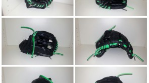 Mexican glove neon green lace